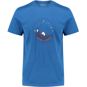 Meru Tumba Camiseta manga corta Hombre, blue saphire